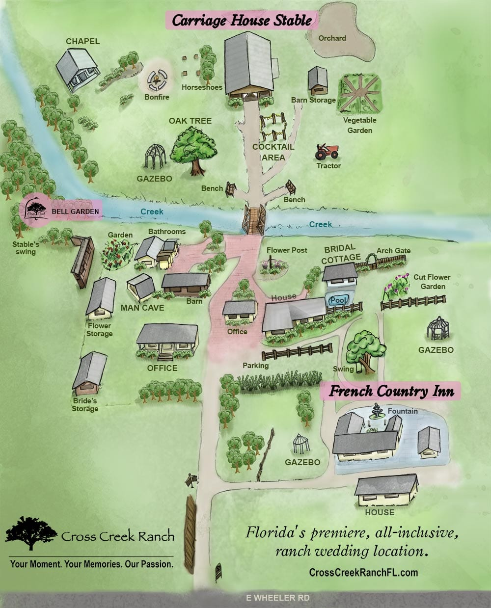Cross Creek Ranch FL Map