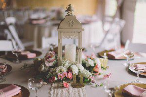 Creative way to dress up a Lantern for Centerpieces