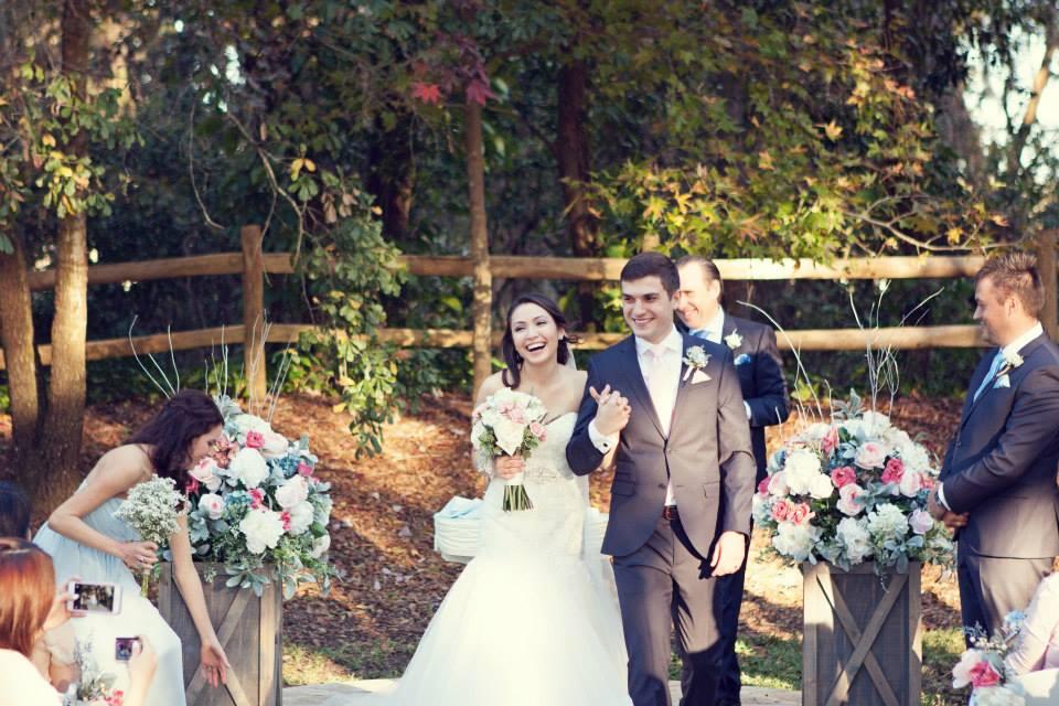 Rosalie and Eben's Outdoor Garden Wedding