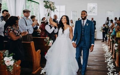 Lauren + Brandon's Open-Air Chapel Wedding