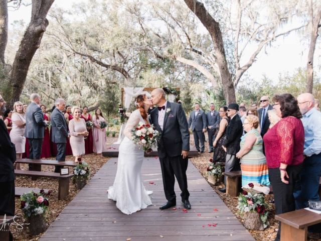 The Enchanted Forest is a ceremony site at Cross Creek Ranch