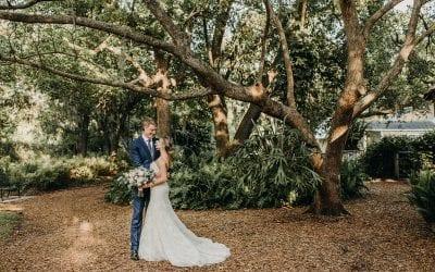 Linea + Mitch's Modern White and Green Wedding