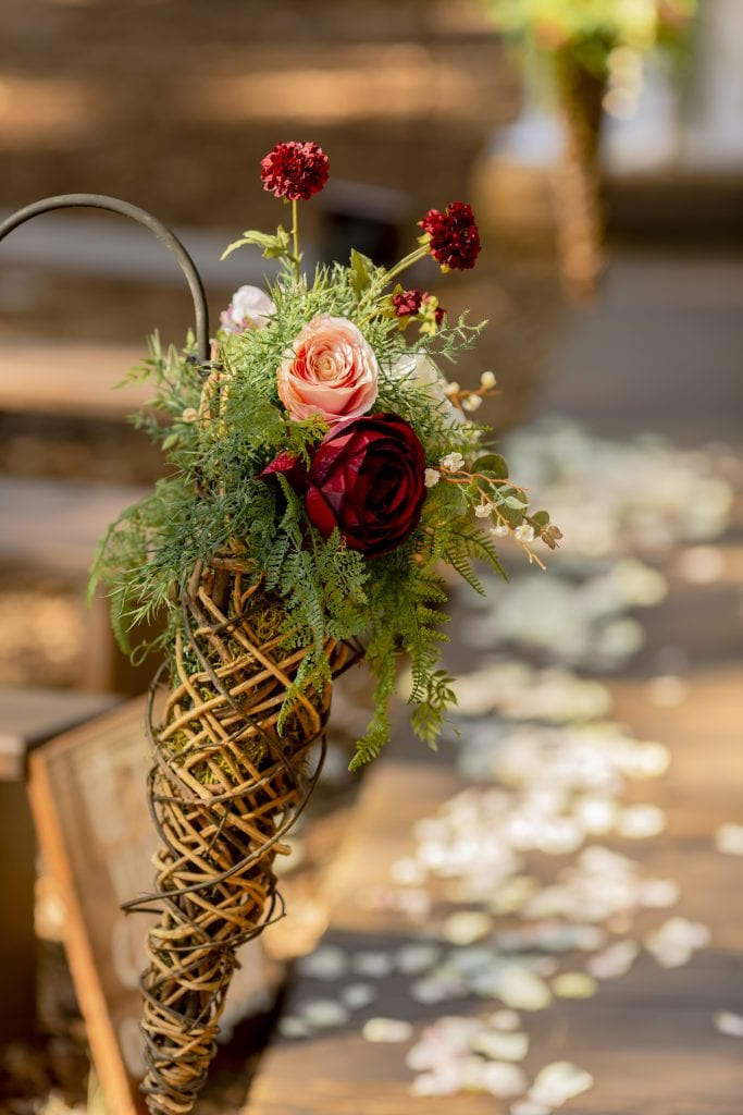 Cornucopia Autumn wedding ceremony decor