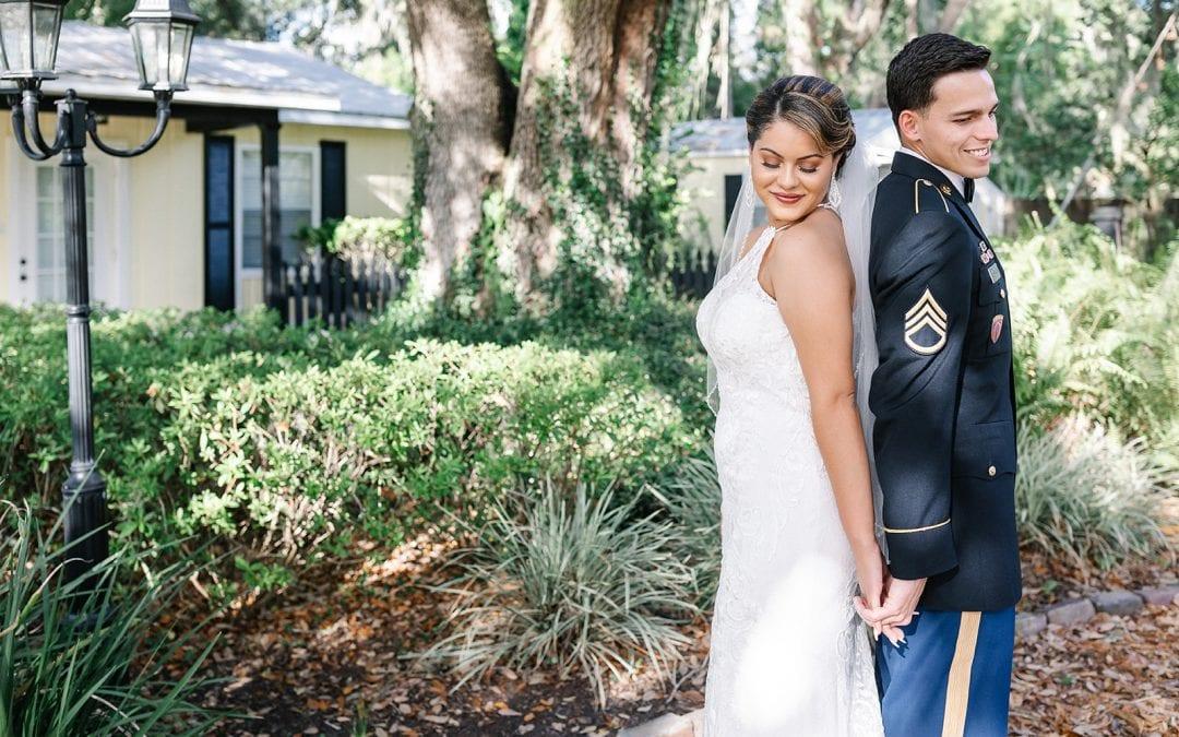 Ashley and Jonanthony's Modern Garden Wedding