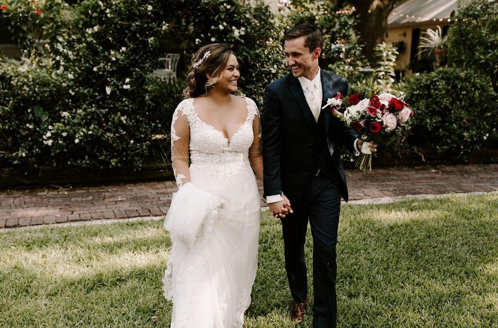 Bella + Benjamin's Burgundy and Blush Wedding
