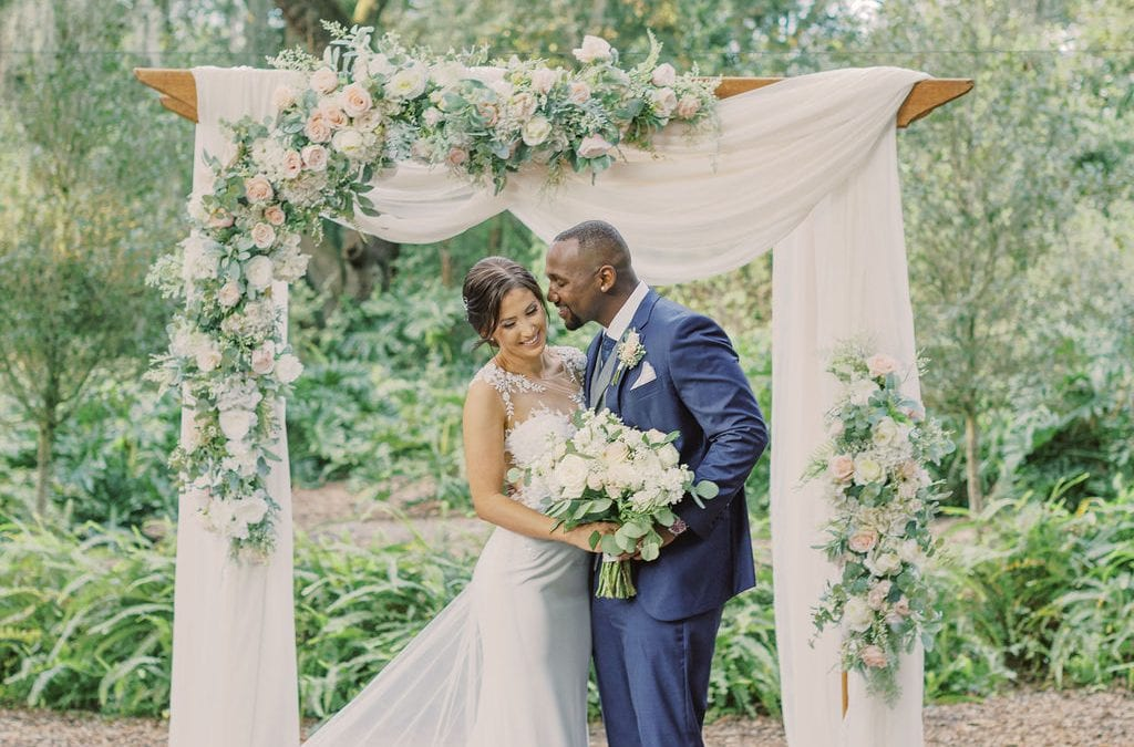 dreamy blush and white wedding