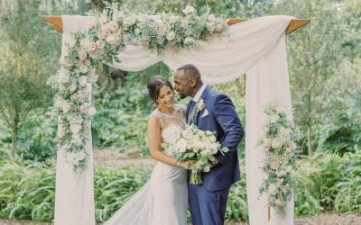 KC + Todd's Dreamy Blush and White Wedding