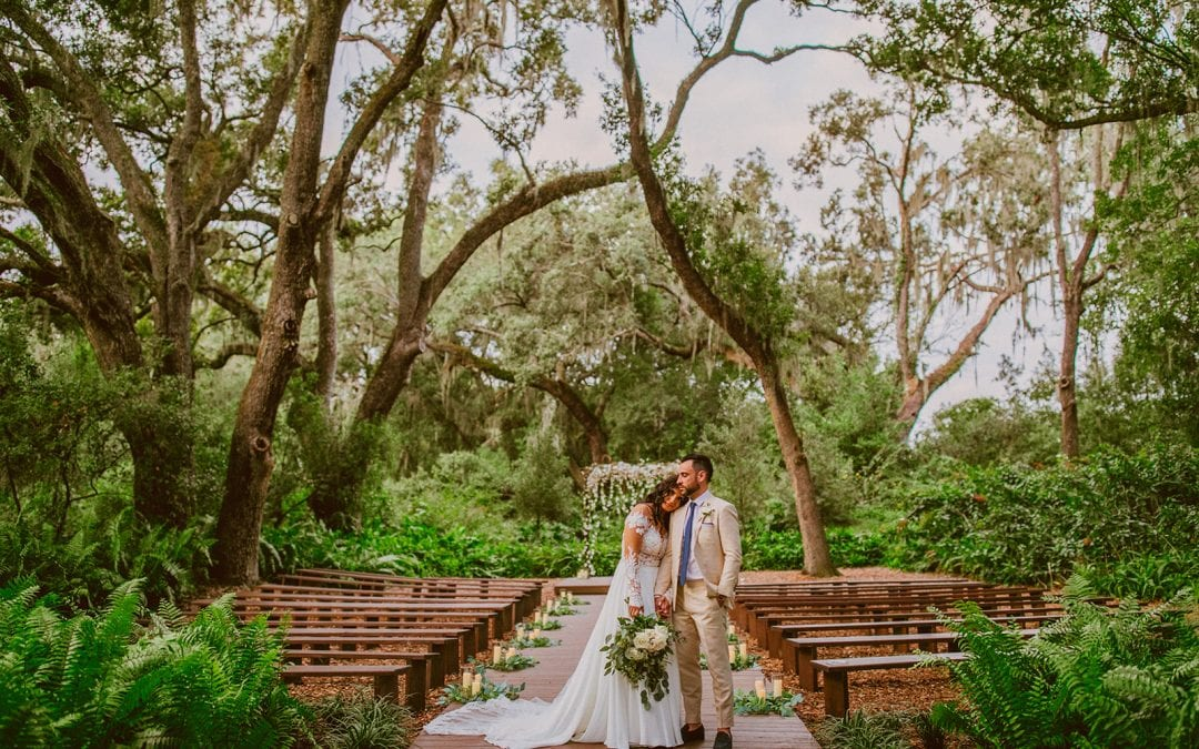 Briana + PJ's Rustic-Luxe Forest Wedding