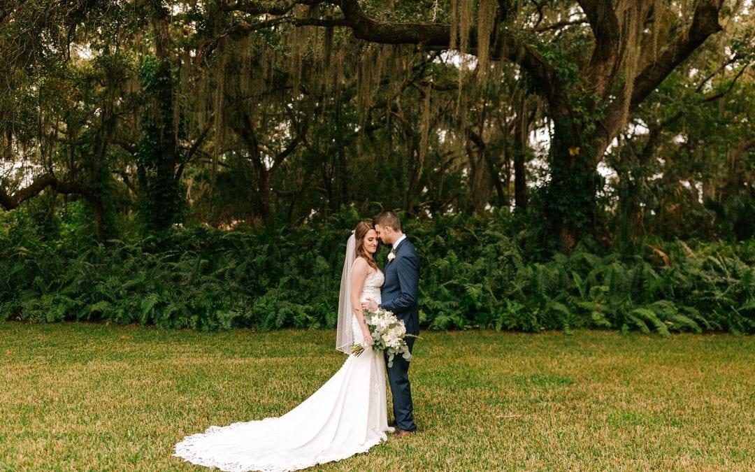 Caitlin + Michael's Sage Green Oak Tree Wedding