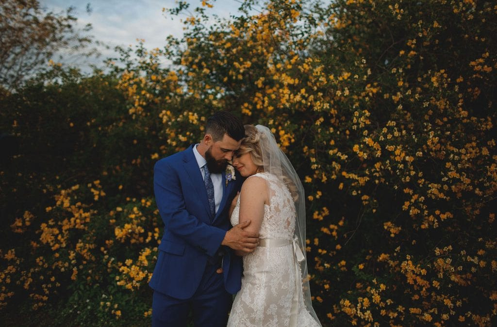 Shelbie + Tony's Romantic Dusty Blue and Blush Wedding