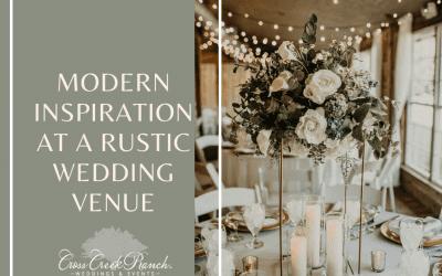 Modern Inspiration At A Rustic Wedding Venue