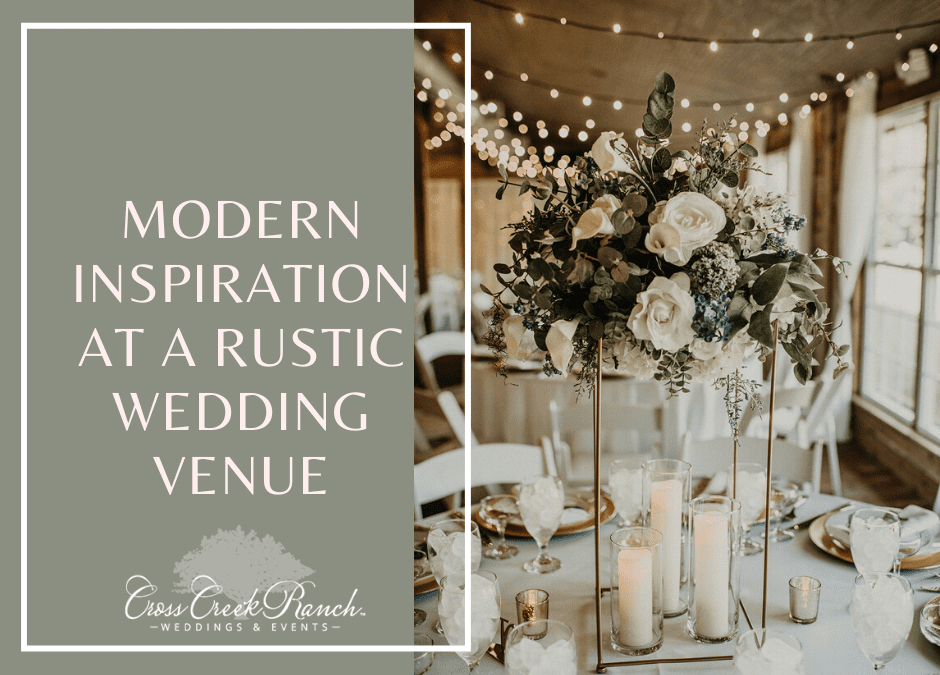 Modern Inspiration At A Rustic Wedding Venue