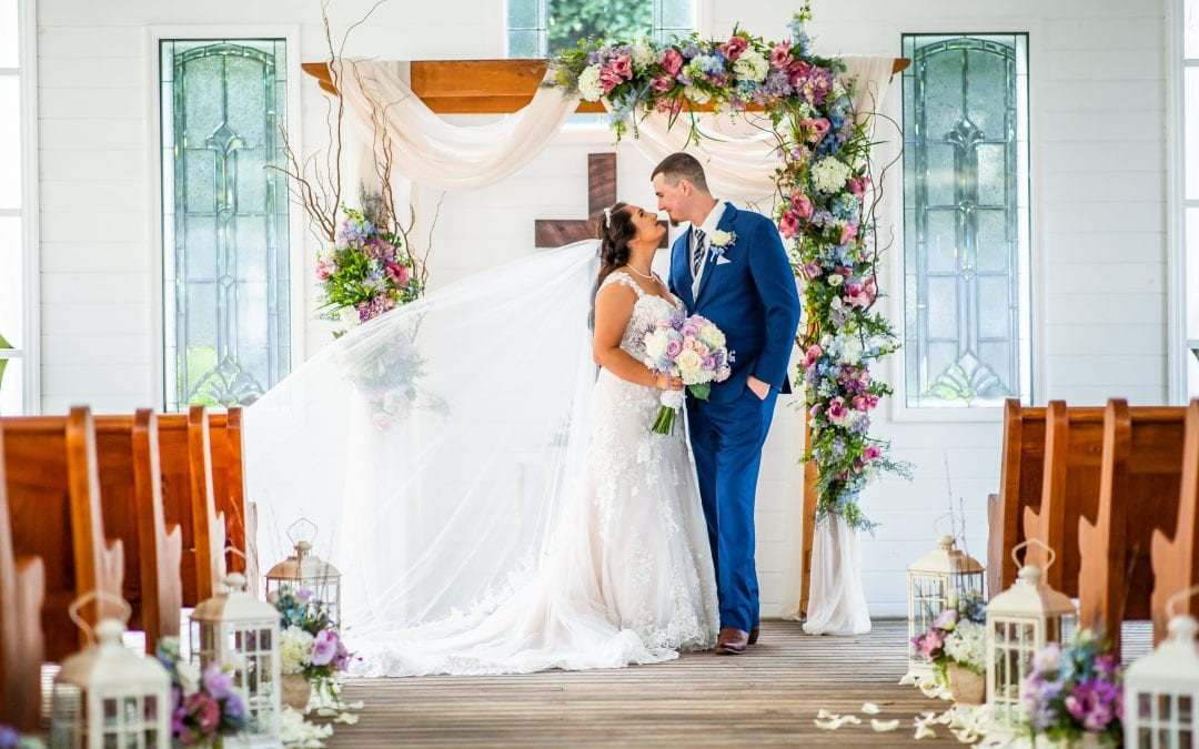 Sophia + Zachary's Lilac and Light Blue Whimsical Wedding