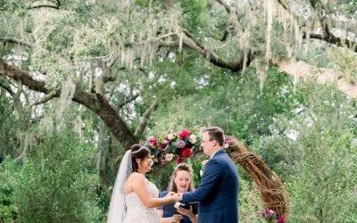 Mandy + Ken's Elegant Jewel-Toned Wedding