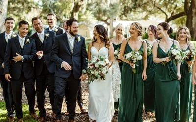 Savannah + Nick's Romantic Emerald Green Wedding