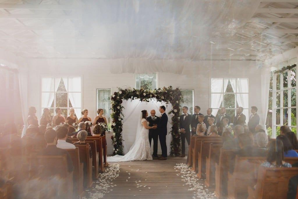 Jill + Tyler's Cozy Burgundy Wedding