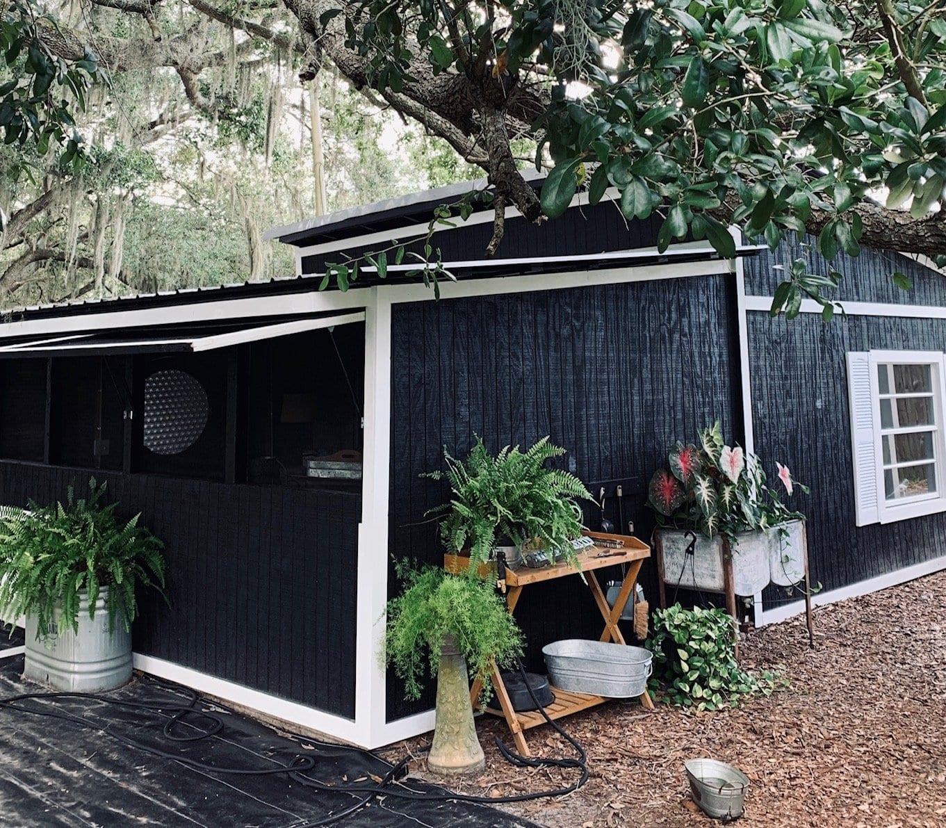 garden shed transformed