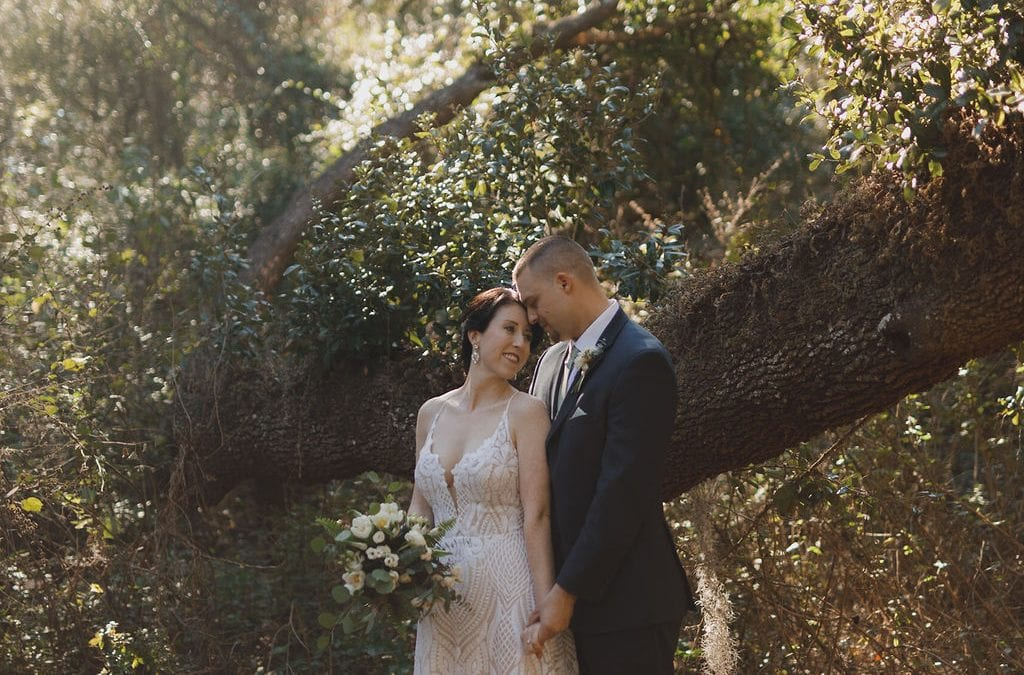 Ashley + Eric's Romantic Neutral Wedding