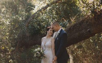 Ashley + Eric's Romantic Neutral Wedding