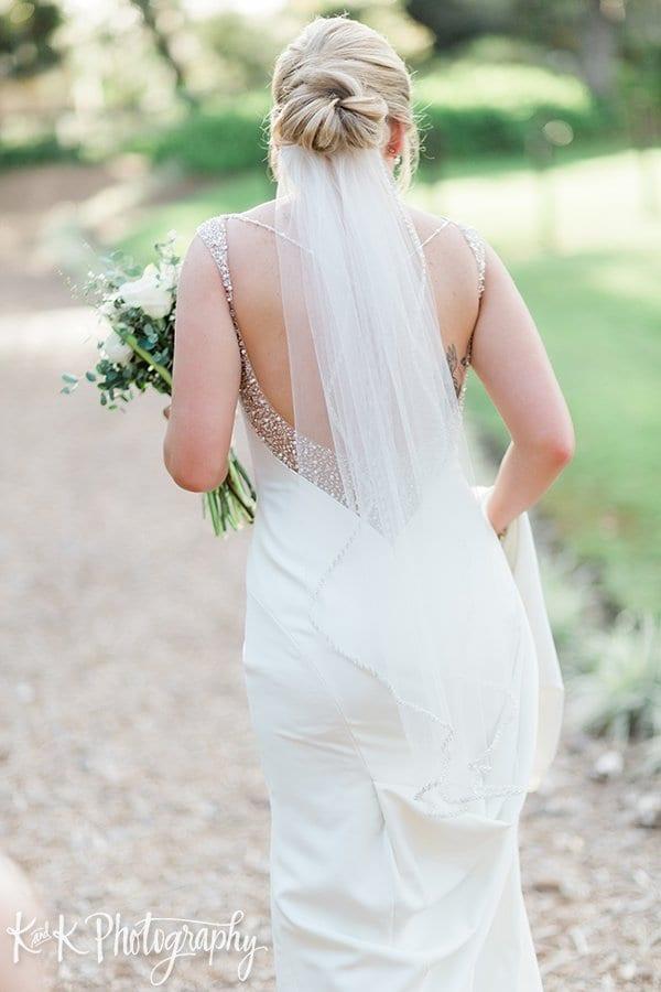 Wedding chignon updo