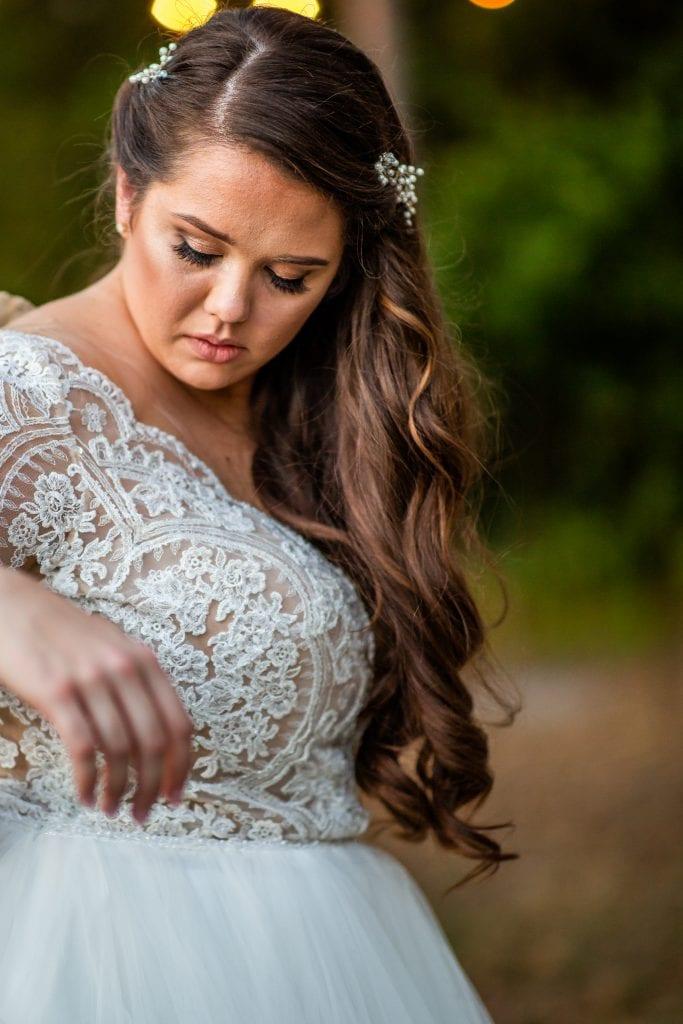 Wedding hair loose curls