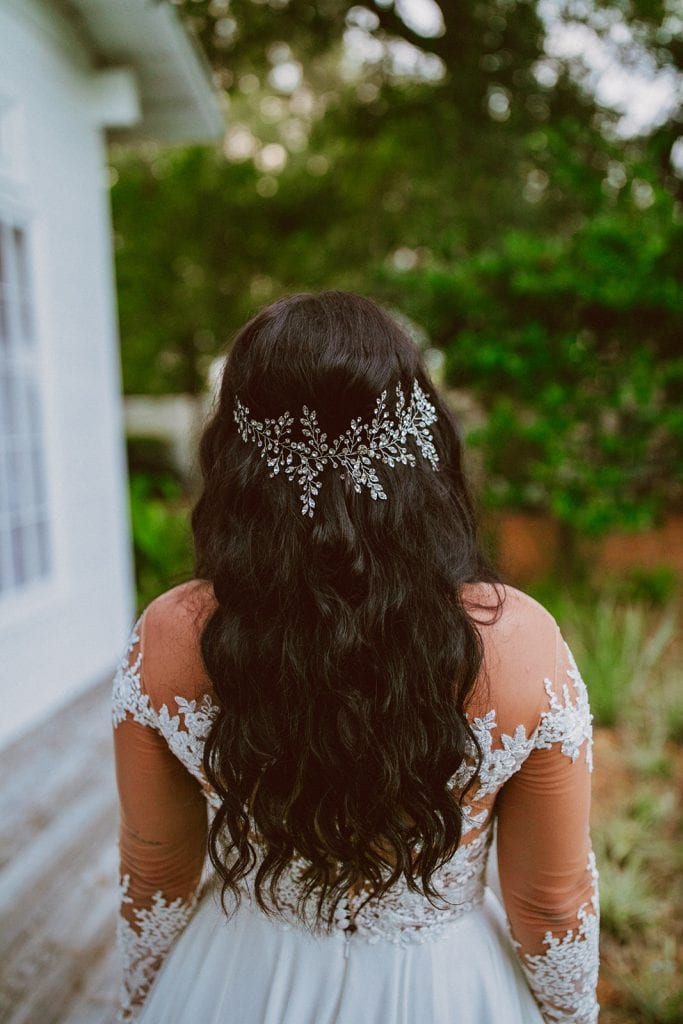 Sparkly wedding headpiece