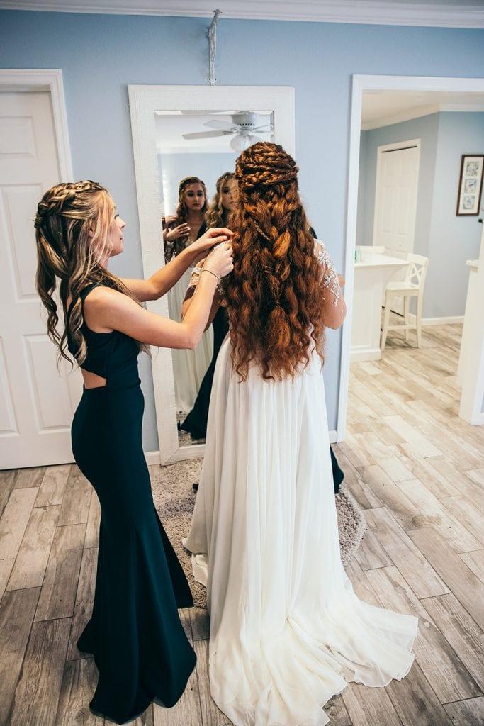 Wedding braid updo