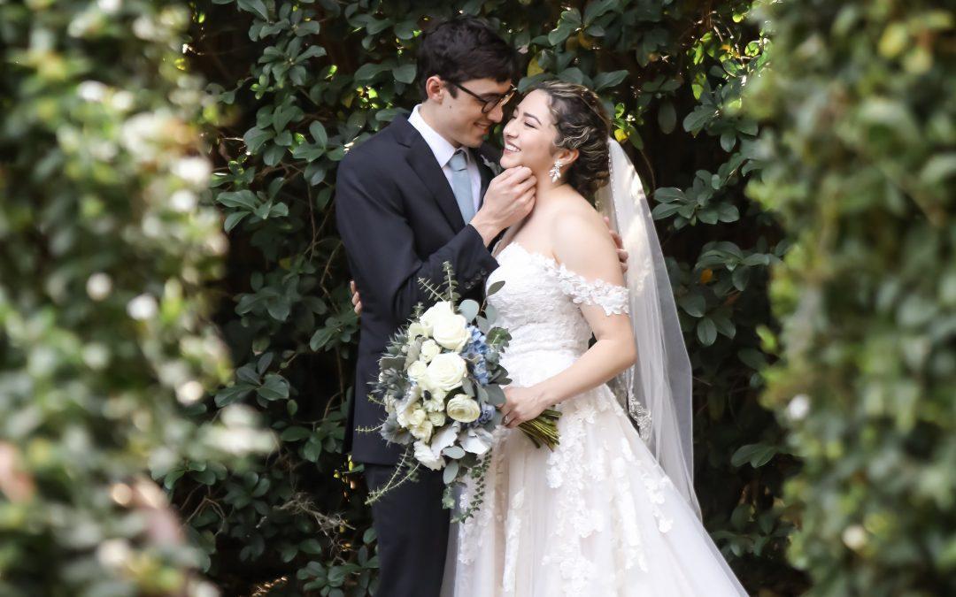 greenery-filled wedding