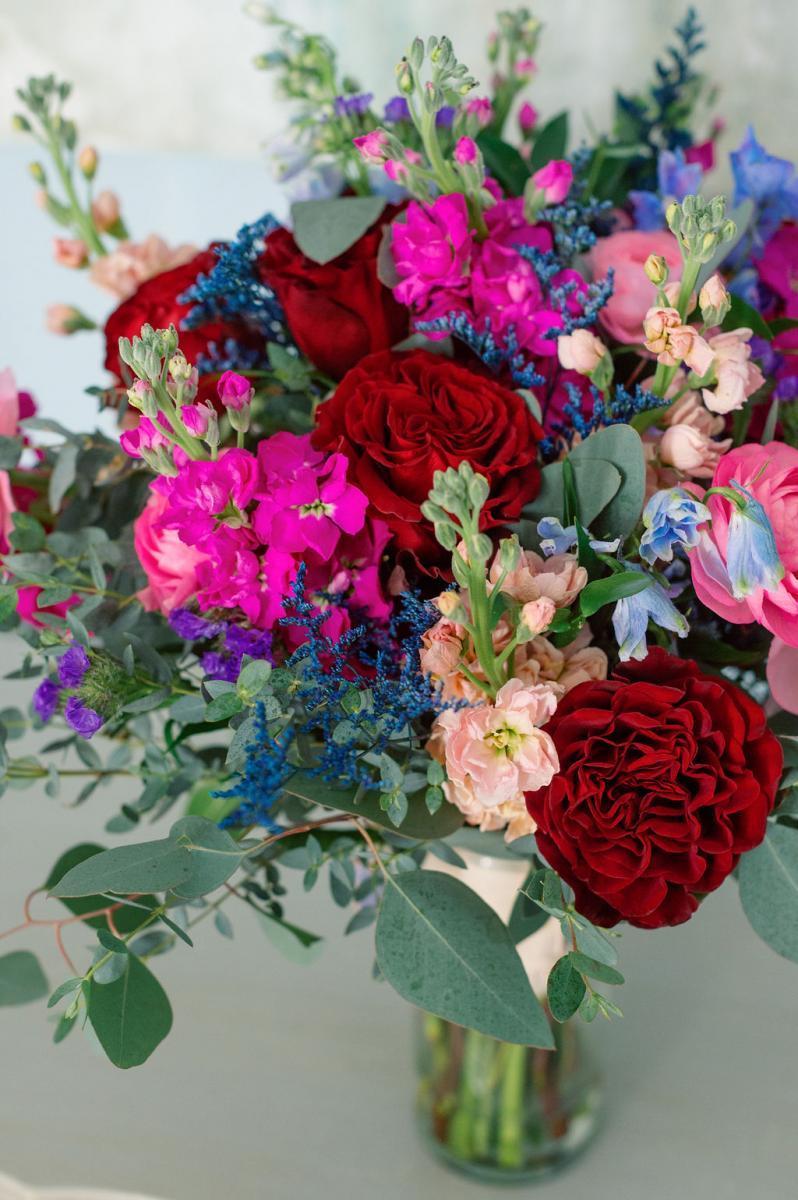 jewel toned wedding flowers