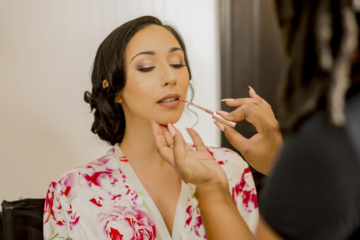 Alexa getting her make up done