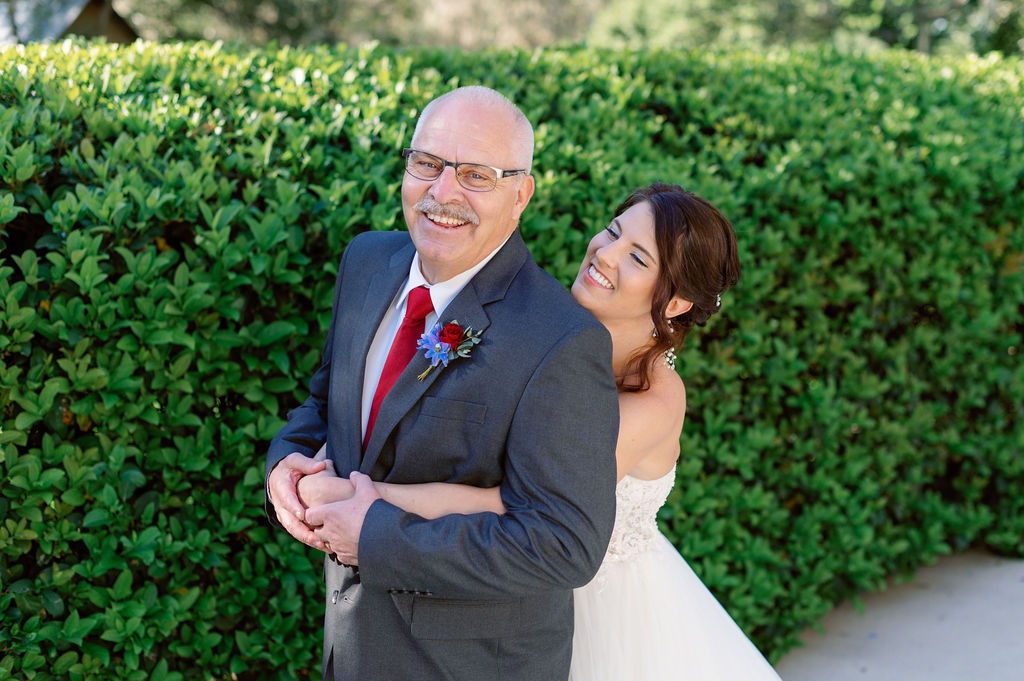 First look with the bride and her father
