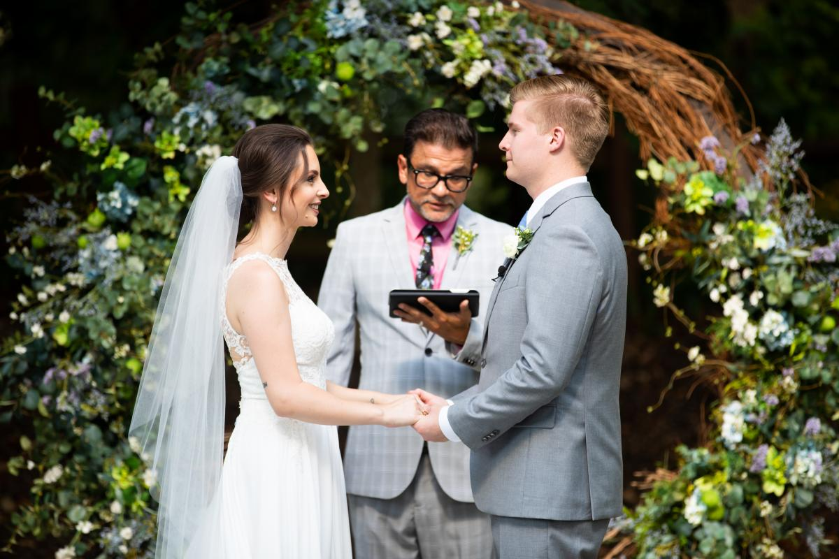 """Isabela and Zach's darling outdoor """"I do's"""""""
