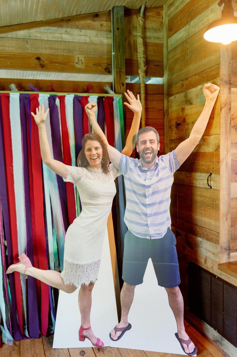 Fun wedding photo booth
