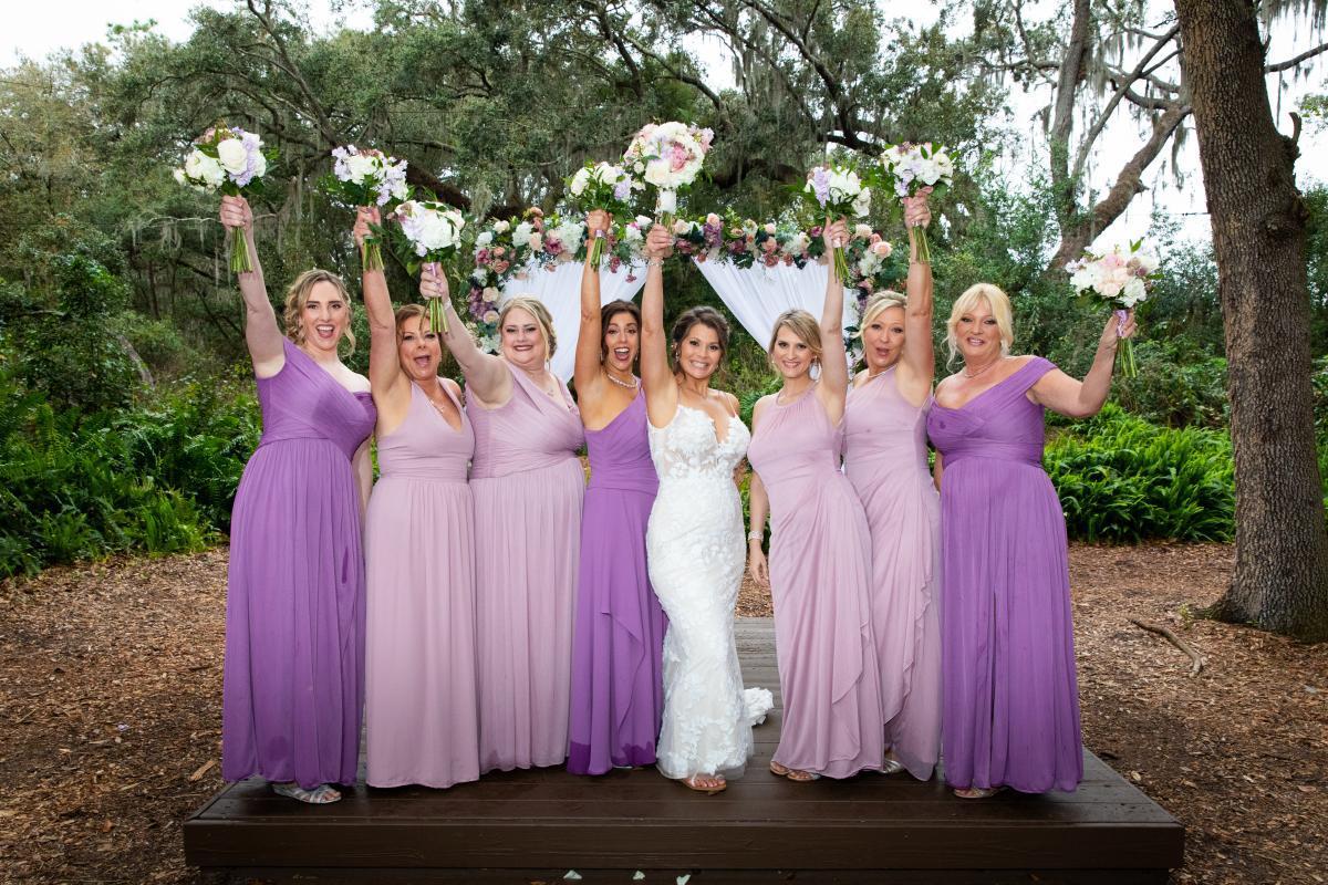 Nikki with her bridesmaids