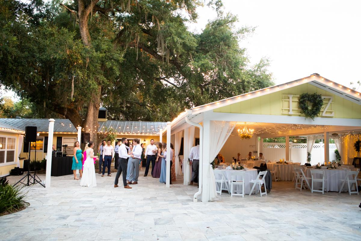 The French Country Inn during a wedding reception