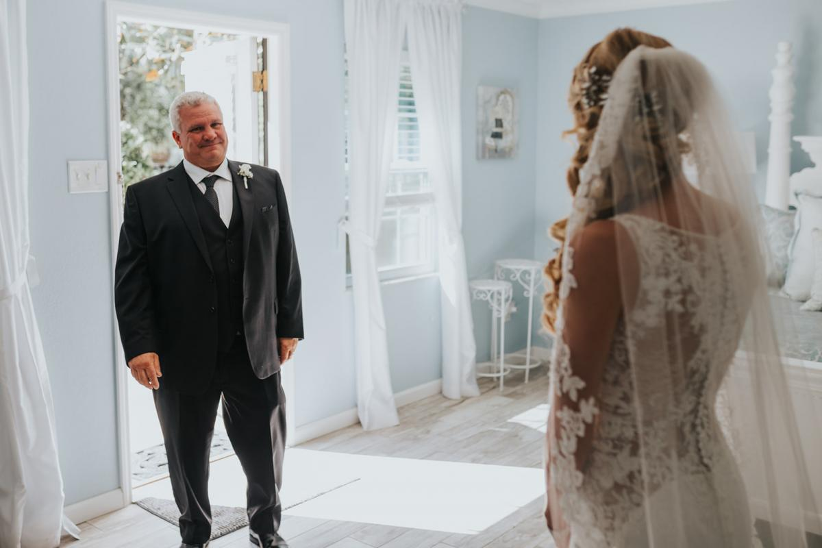 First look with Emily and her father