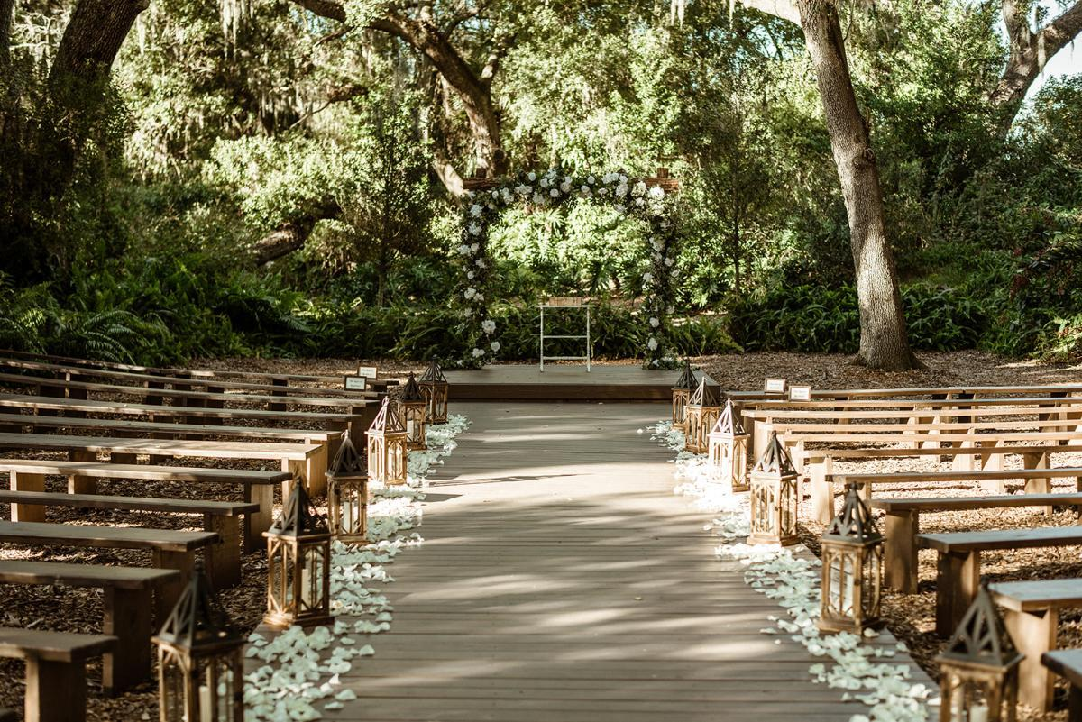 Enchanted forest wedding ceremony