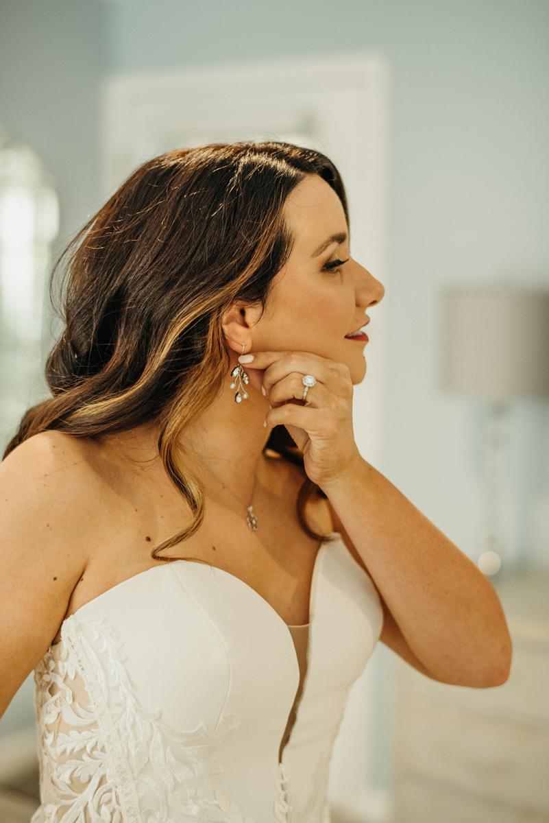 Savannah's wedding earrings