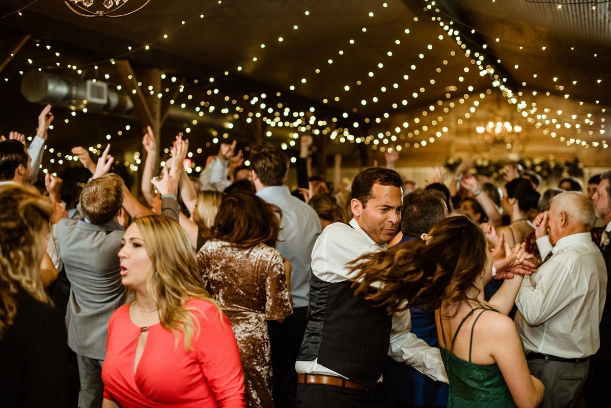 Dance floor opens for the wedding reception