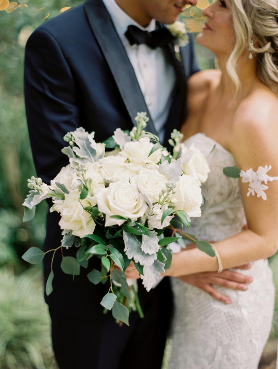 Krista's modern white bridal bouquet