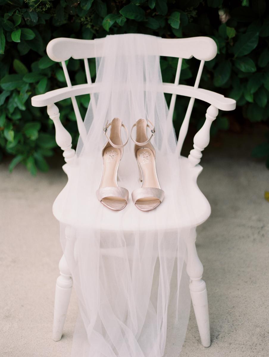Modern bride wedding shoes