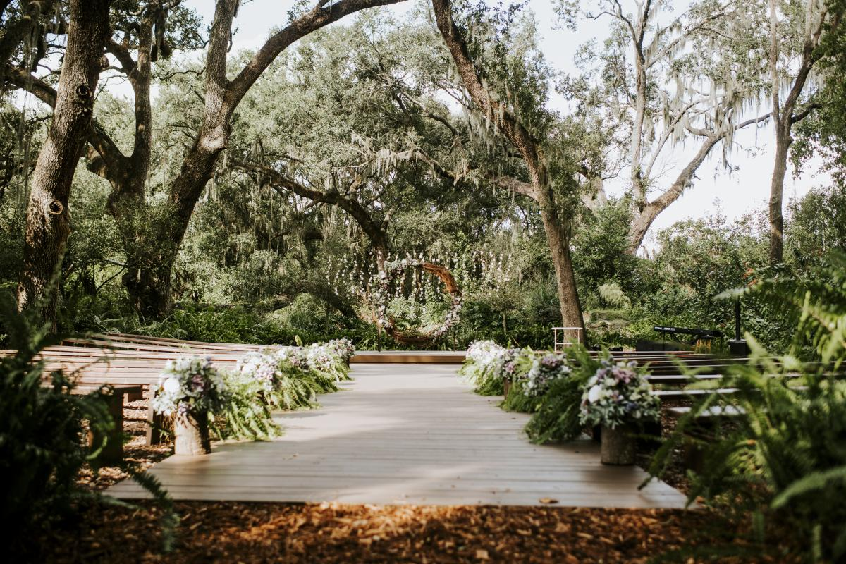 The Enchanted Forest ceremony site at Cross Creek Ranch
