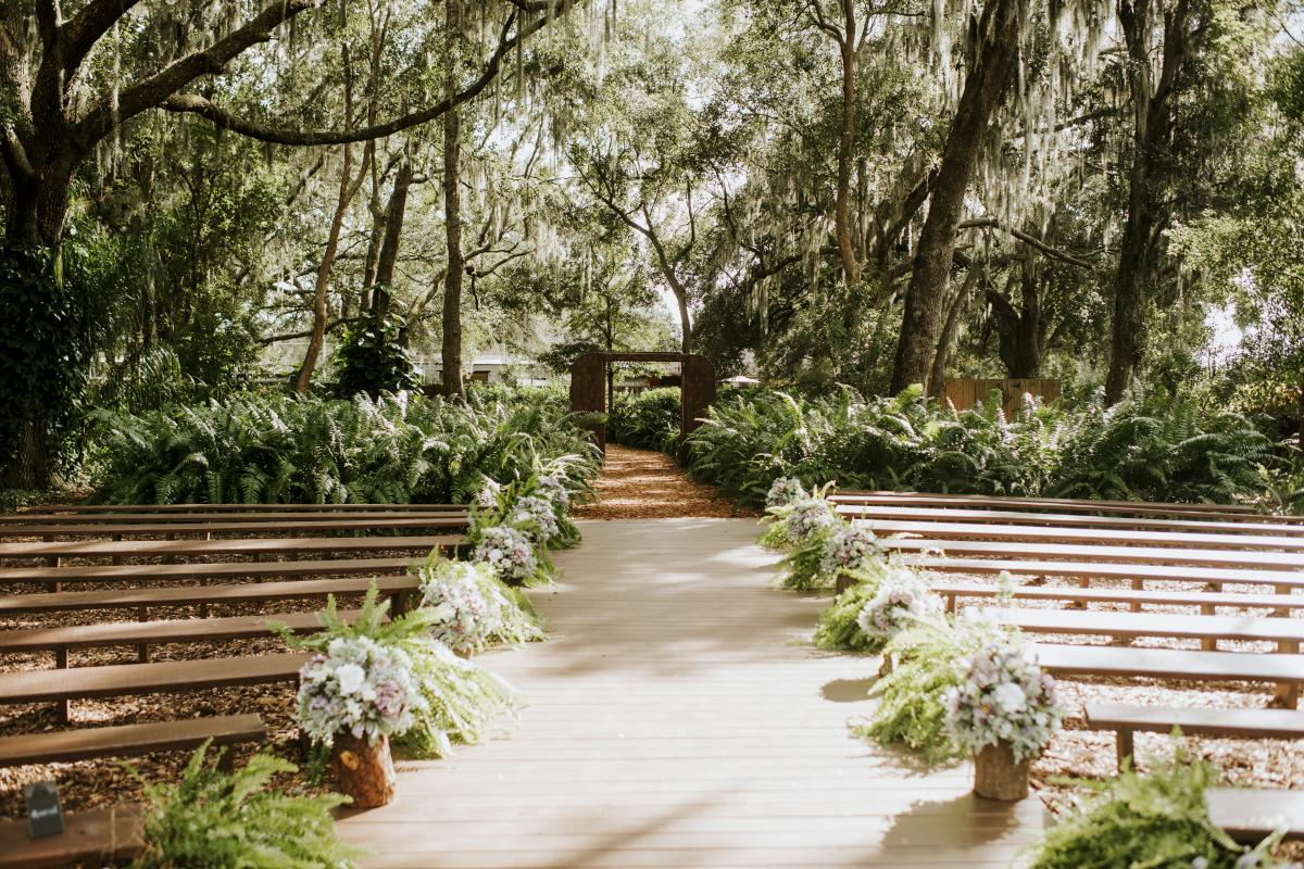 The Enchanted Forest ceremony location at Cross Creek Ranch