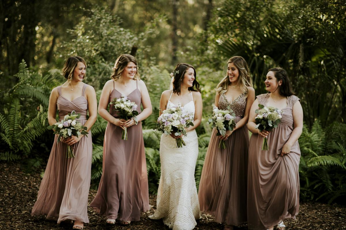 Paola and her bridesmaids