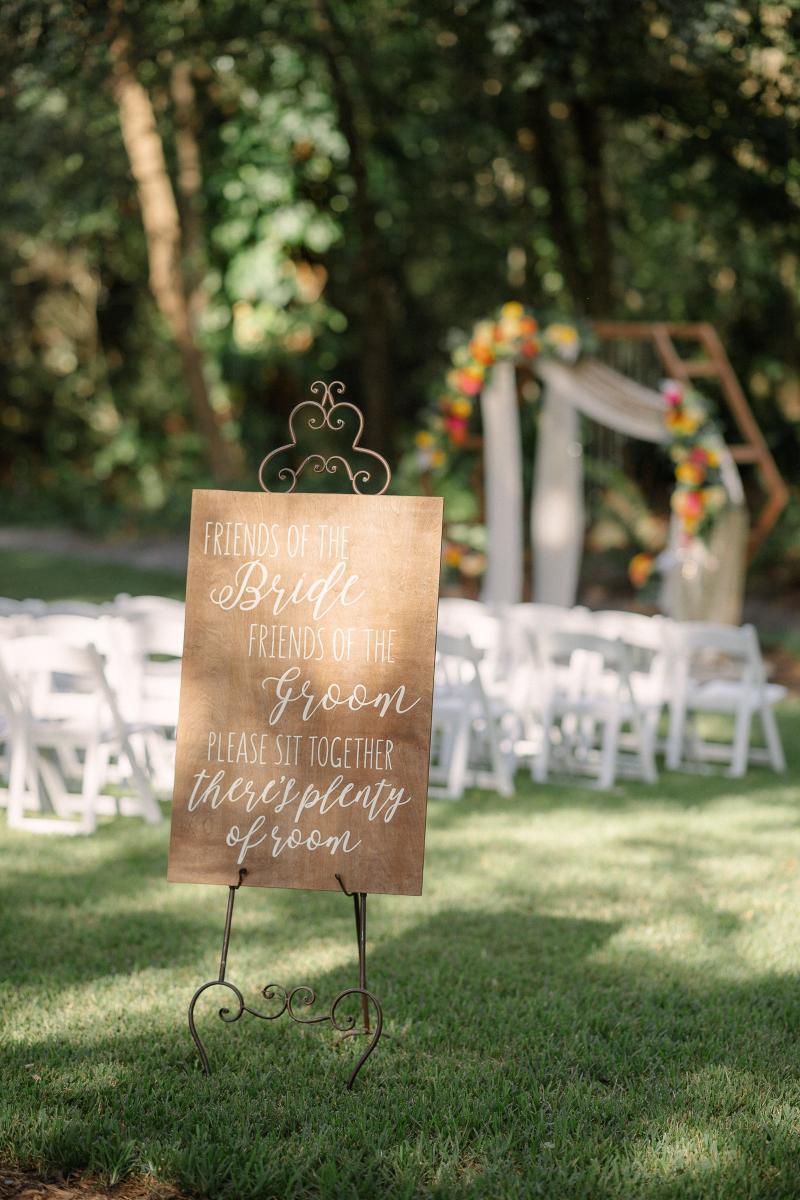 Outdoor wedding venue in Florida