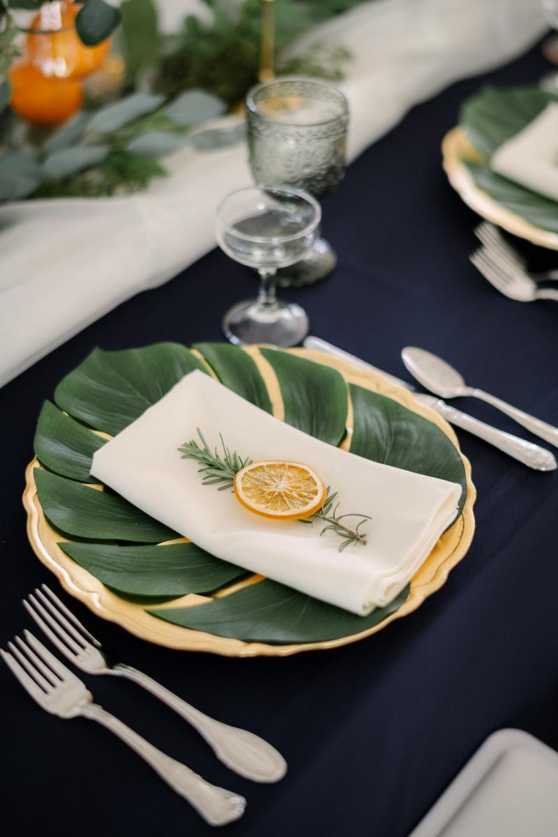 Citrus wedding details
