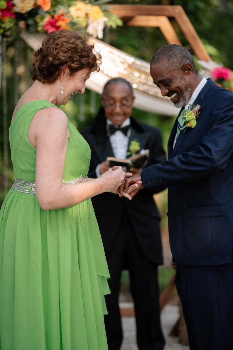 Wedding ring exchange, wedding ceremony