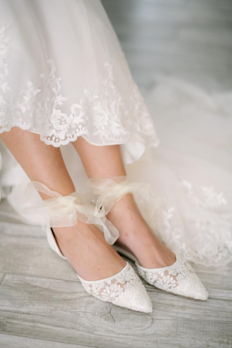 Romantic wedding day shoes