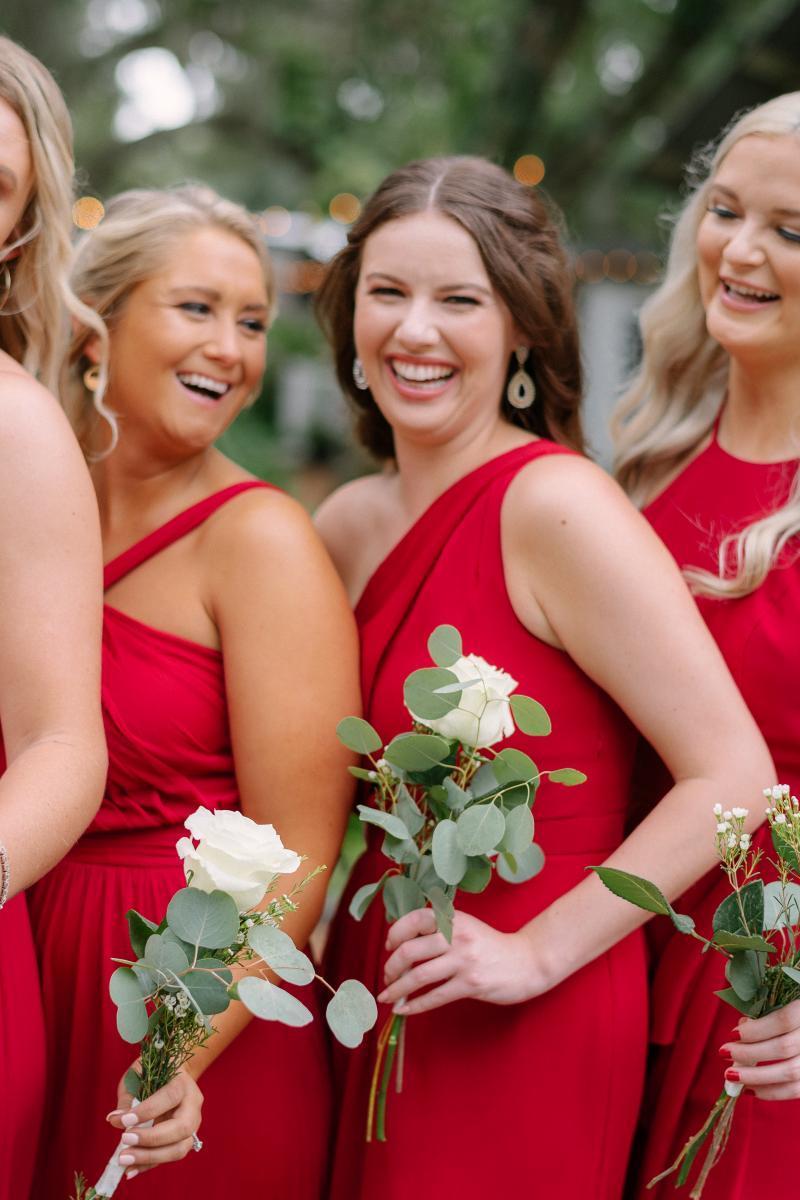 Single flower bridesmaid bouquets