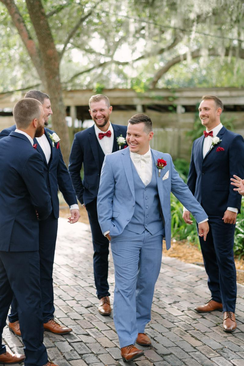 Gage and his groomsmen